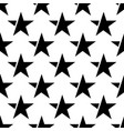 white seamless pattern with black star vector image vector image