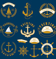 yachting labels and badgesjpg vector image vector image