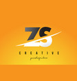 zs z s letter modern logo design with yellow vector image vector image