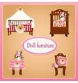 Dollhouse furniture for children room vector image