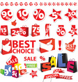 sale icons and symbols vector image