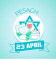 23 April Pesach vector image