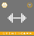 barbell symbol icon graphic elements for your vector image vector image