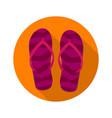 beach slippers flip flops sandals flat icon vector image vector image