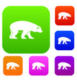 bear set collection vector image vector image