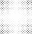 Black and white curved star pattern background vector image vector image