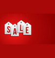 black friday sale banner sale white tag hanging vector image vector image