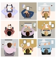 Business office workers vector image vector image