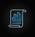 business report line bright icon on dark vector image