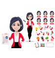 business woman manager banker vector image vector image