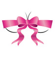 bust with pink bow vector image
