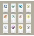 Calendar grid 2015 zodiac signs design vector image