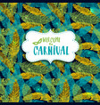 carnival background seamless patern with hand vector image vector image