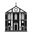 church icon simple style vector image vector image
