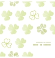 clover geometric textile textured frame corner vector image vector image