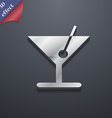 cocktail icon symbol 3D style Trendy modern design vector image vector image