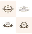 coffee logo - emblem set design vector image
