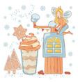 coffee mood fairy cartoon set vector image vector image