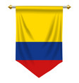 colombia pennant vector image vector image