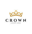 crown logo king royal icon queen logotype vector image vector image