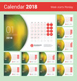 desk calendar for 2018 year design print template vector image vector image