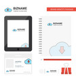 downloading business logo tab app diary pvc vector image vector image