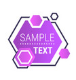 dynamical purple gradient form abstract banner vector image vector image