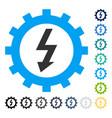 electric energy cog wheel icon vector image