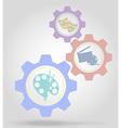 gear mechanism concept 07 vector image vector image
