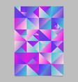 geometrical abstract polygonal triangle brochure vector image vector image
