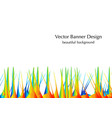 grass and sand vector image vector image