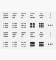 hamburger lines menu symbol line icon sign vector image