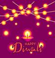 happy diwali greeting card deepavali or dipavali vector image