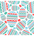 Happy easter egg seamless pattern vector image