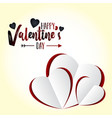 happy valentines day love background vector image