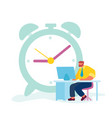 hard working businessman time or working process vector image