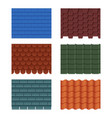 horizontal pattern of tiles for roofed house vector image