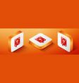 isometric bible book icon isolated on orange vector image vector image