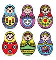 Kawaii cute Russian nesting doll - Matryoshka vector image vector image