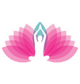 Logo for yoga or fitness center vector image vector image