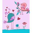 love bird song vector image vector image