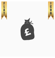 Money bag icon Pound GBP vector image vector image