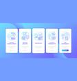 mortgage refinance benefits onboarding mobile app vector image vector image