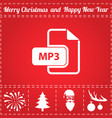 mp3 icon vector image vector image