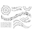 musical abstract design elements - set vector image vector image