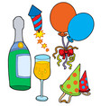 new years eve collection vector image