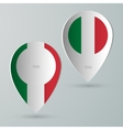 paper of map marker for maps italy vector image