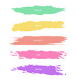 pastel colors textured brush strokes set vector image