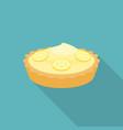 pie lemon or cheese tart with lemon slice vector image vector image