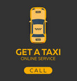 poster taxi service mobile app for booking vector image vector image
